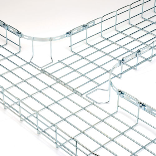 Flextray wire basket with corner radius solution