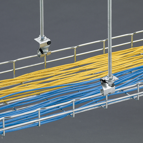 Flextray wire basket trapeze support
